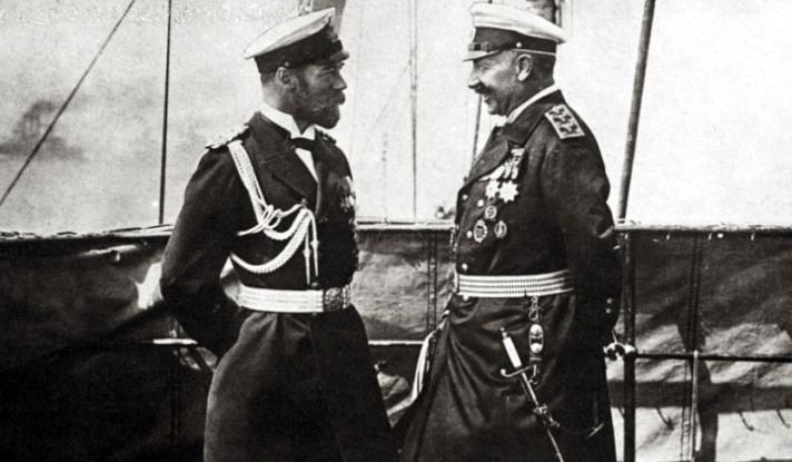 AFP.o imperador da alemanha guilherme II e seu primo Nicolau II imperador da rússia e rei da polónia fotografados poucas semanas antes da grande guerra