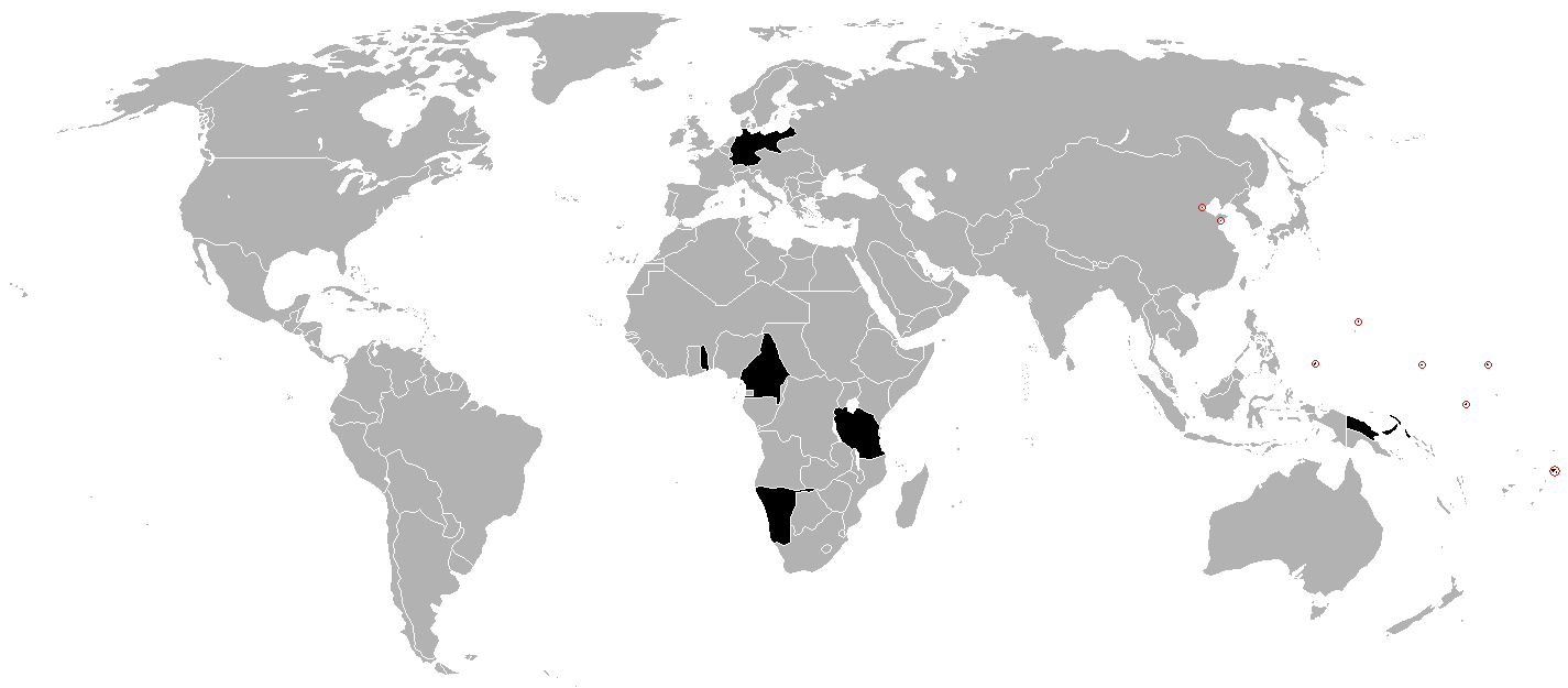 alemanha e colónias