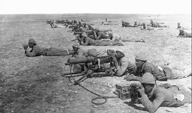 tropas do império otomano no médio oriente