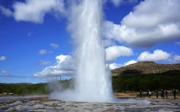 Geysir Hot Springs, Islândia.